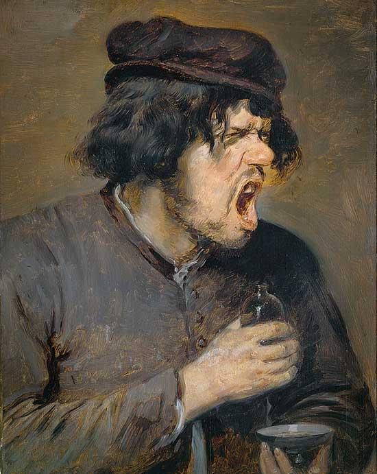 Adriaen Brouwer, Gorgée amère, 1638