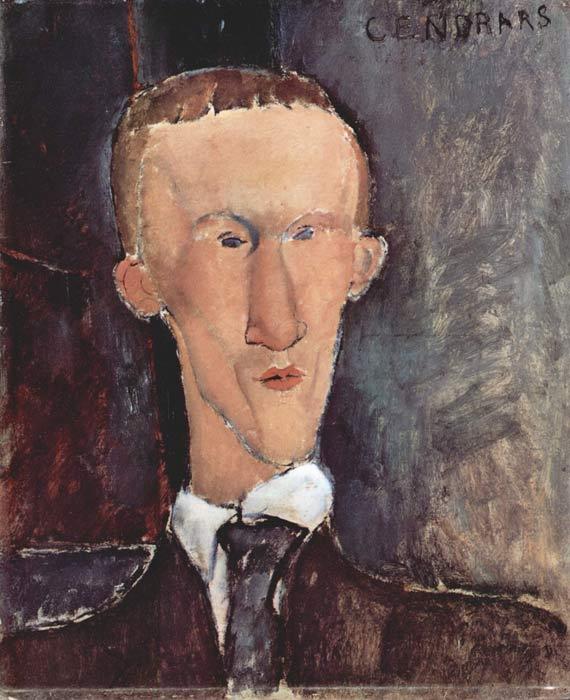 Amedeo Modigliani, Blaise Cendrars, 1917