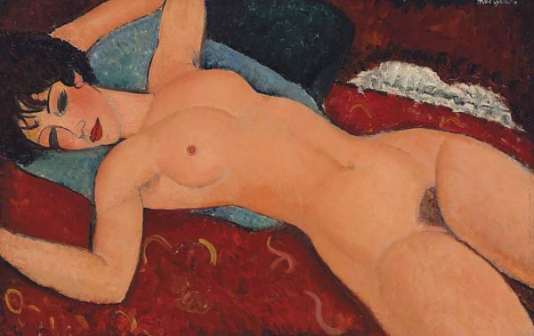 Amedeo Modigliani, Nu couché, 1920