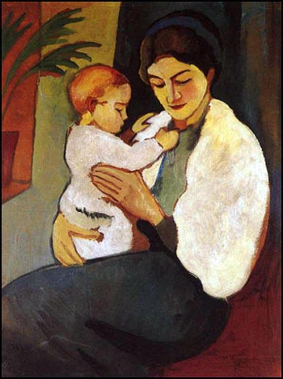 August Macke, Mère et enfant, 1911