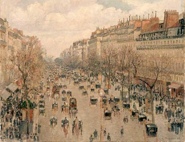Camille Pissarro, Boulevard Monmartre, Paris, 1897