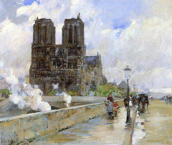 Childe Hassam, Le Cathédrale de Notre-Dame de Paris, 1888