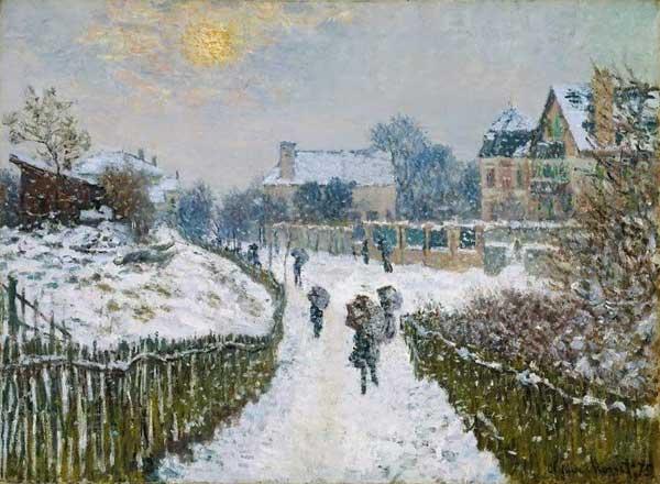 Claude Monet, Boulevard Saint-Denis, Argenteuil, en hiver, 1875