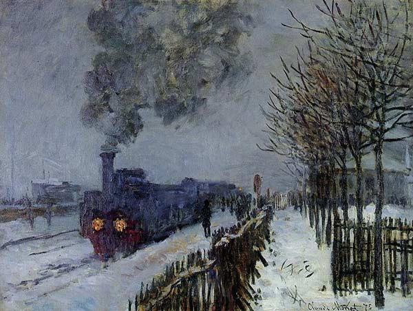 Claude Monet, Train dans la neige, 1875