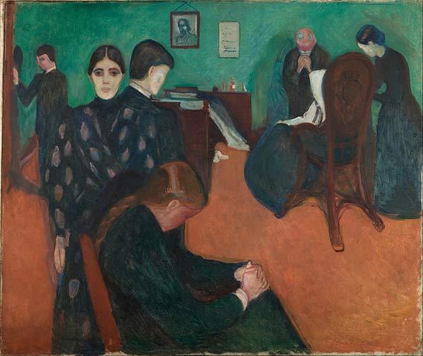 Edvard Munch, La Mort dans la chambre de la malade, 1893