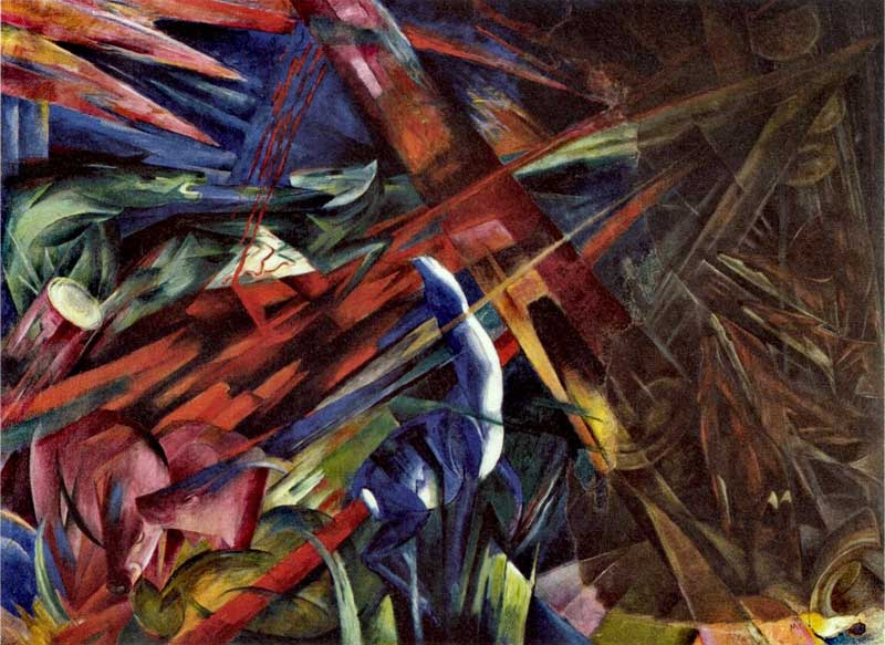 Franz Marc, Destins d'animaux, 1913