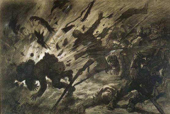Georges Scott, Effet d'un obus dans la nuit, avril 1915