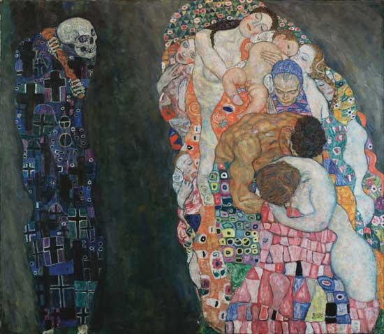 Gustav Klimt, La vie et la mort, 1916