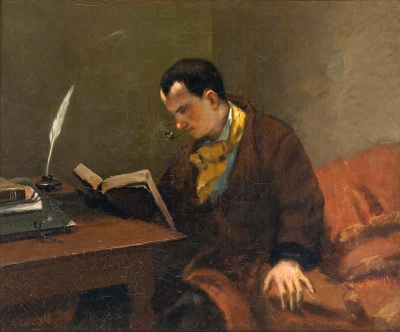Gustave Courbet, Portrait de Charles Baudelaire, 1849