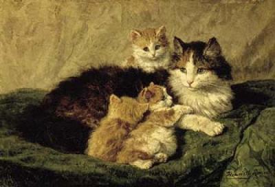 Henriëtte Ronner-Knip, Contentement, 1870