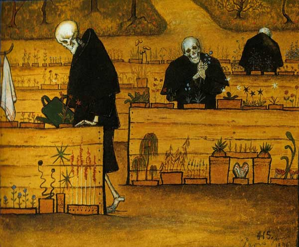 Hugo Simberg, Le jardin de la mort, 1896