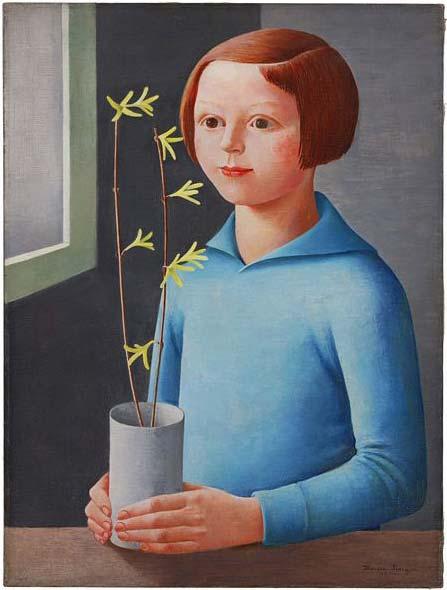 Ilona Singer, Une fille avec une plante en pot, 1930