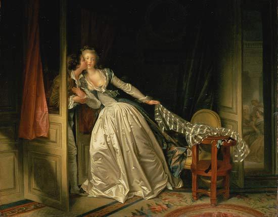 Jean-Honoré Fragonard, Le Baiser à la dérobée, 1788