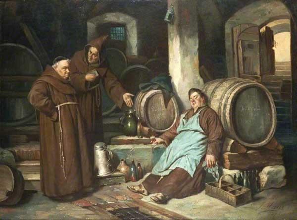 Joseph Haier, Moines dans une cave, 1873