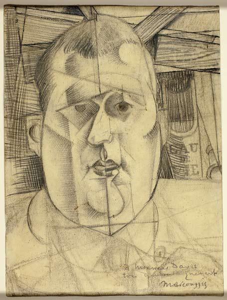 Louis Marcoussis, Etude pour un portrait de Guillaume Apollinaire, 1912