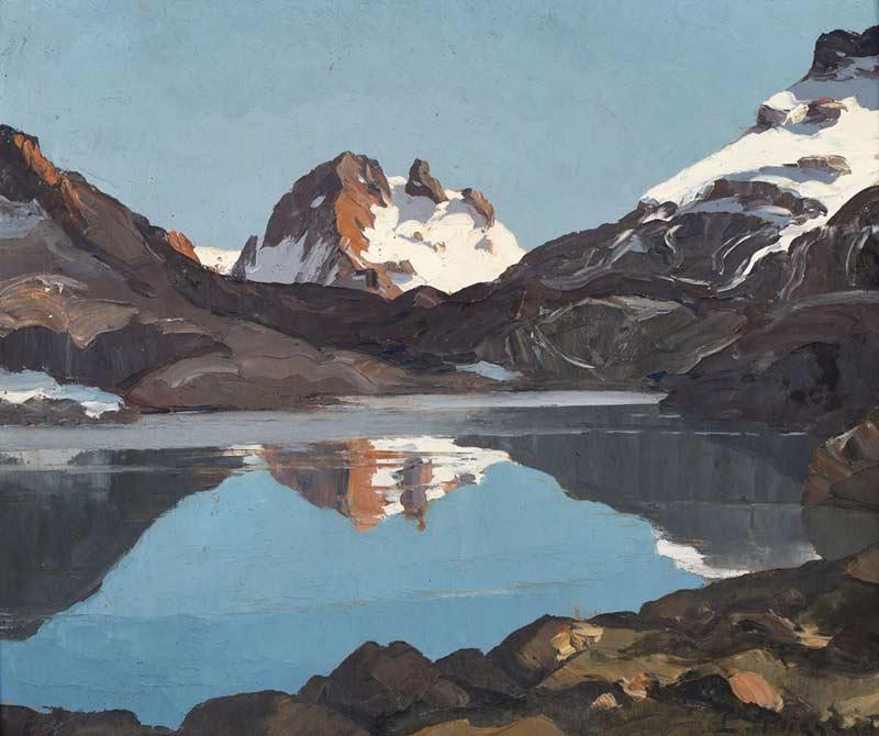 Lucien Poignant, Le lac Long et le Roc Noir, Col de la Vanoise, 1937