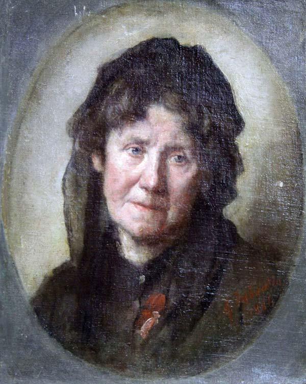 Marcellin Desboutin, Portrait de Louise-Victorine Ackermann, 1886