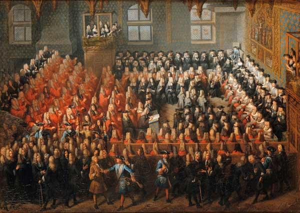 Pierre Louis Dumesnil, Lit de justice tenu par Louis XV, 1715