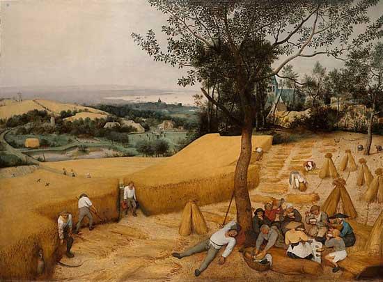 Pieter Bruegel, Les Moissonneurs, 1565