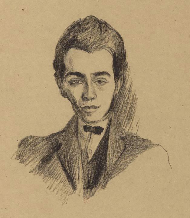 Robert Delaunay, Portrait de Louis Aragon, 1922