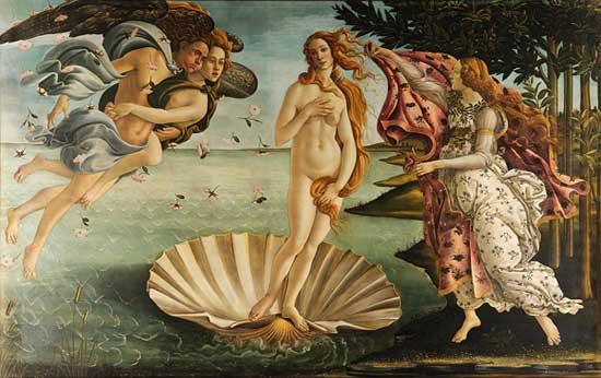 Sandro Botticelli, La naissance de Vénus, 1484