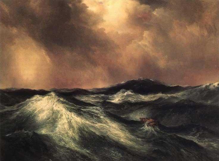 Thomas Moran, La mer en colère, 1911