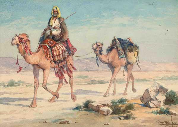 Tony Binder, Un voyageur arabe dans le desert, 1929