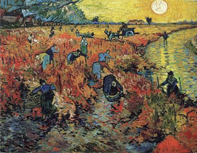 Vincent Van Gogh, La vigne rouge, 1888