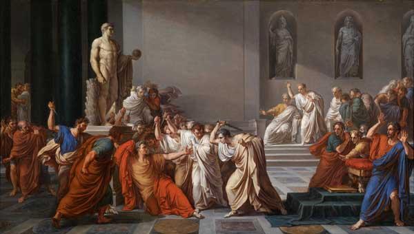 Vincenzo Camuccini, La mort de César, 1805